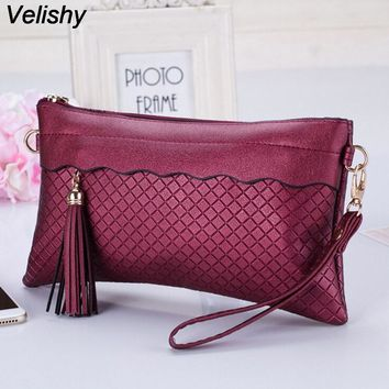 VELISHY -  Soft Vintage Inspired PU Leather Clutch*