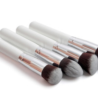 4pcs /lot White Synthetic Brush Set