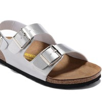 Men's and Women's BIRKENSTOCK sandals Milano Birko-Flor 632632288-122