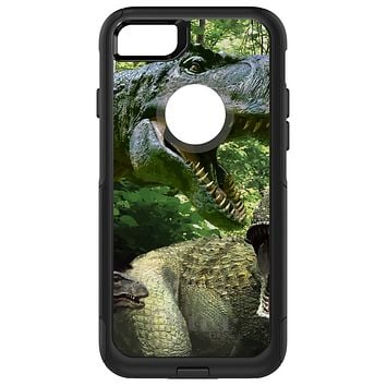 DistinctInk™ OtterBox Commuter Series Case for Apple iPhone or Samsung Galaxy - T-Rex Dinosaurs Raptor