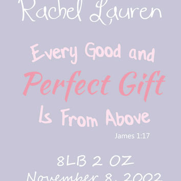 Digital Download, D.I.Y Printable, Personalized Baby Girl Bible Verse, Wall Art Print, Typography Art, Instant Home Decor, Word Art, Nursery