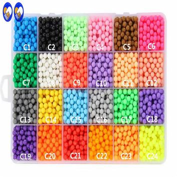 A Toy A Dream 500pcs Water Hama Beads toys Sticky Perler Beads Pegboard set Fuse Beads jigsaw puzzle Water Educational DIY toys