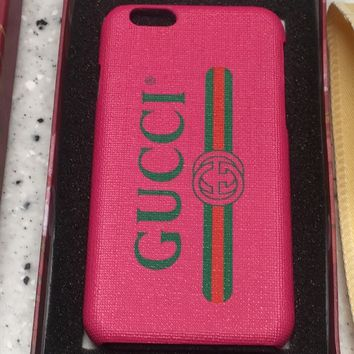 Gucci iPhone 6s case in Coated Canvas!!