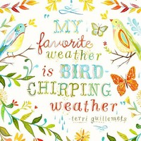 Bird Chirping Weather- 8x10 print