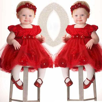 Flower Girls Toddler Baby Princess Pageant Lace Dresses
