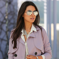 Premium Military Mirrored Lens Metal Aviator Sunglasses