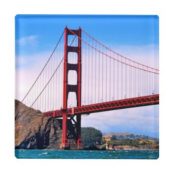 SAN FRANCISCO GOLDEN GATE BRIDGE GLASS COASTER