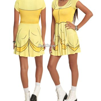Licensed cool DISNEY Beauty & the Beast Belle Inspired Costume Cosplay Dress Juniors XS/S NEW