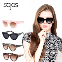 2016 Sunglasses  women with box Classic Cat Eye Style Brand Designer Fashion Shades black plastic Sun Glasses oculos de sol 2939