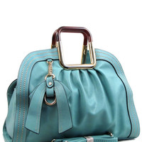 Tiffany Blue Monotone Leather Bag