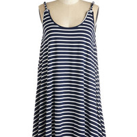ModCloth Americana Mid-length Sleeveless Shift Designated Diver Dress