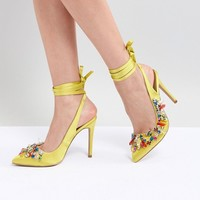 ASOS DESIGN Peridot Embellished High Heels at asos.com