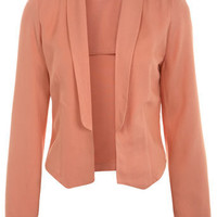 Coral Shawl Collar Blazer - Coats  Jackets  - Clothing  - Miss Selfridge