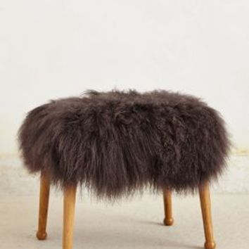 Luxe Fur Stool by Anthropologie