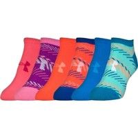 Under Armour Women's Essential No Show Socks 6 Pack