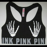 Vs PINK skeleton bra limited edition halloween
