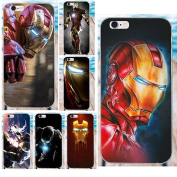 For Apple iPhone 4 4S 5 5C SE 6 6S 7 8 Plus X Galaxy Grand Core II Prime Alpha Soft TPU Phone Cases Cover Small Iron Man Ironman
