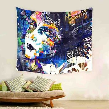 India Mandala Tapestry Skull Tapestry Beach Bedspreads Skull Blanket Towel Hippie Tapestry Psychedelic Wall Cloth