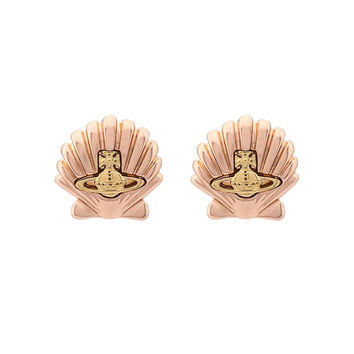 Rosegold Shell Earrings
