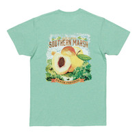 Peach Festival Series Tee in Washed Bimini Green by Southern Marsh