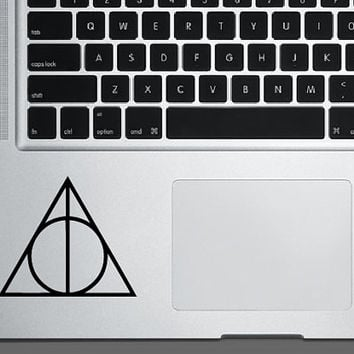 Deathly Halllows Decal *Choose size & color* Harry Potter Inspired Decal HP Deathly Hallows Sticker - Car Truck Laptop Decal etc.