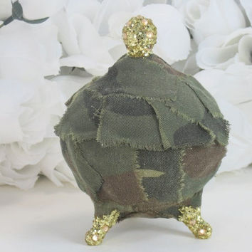 Camo Gifts - Camouflage Gifts - Girls Gifts - Birthday Gifts - Camouflage Accessories - Rustic Gifts - Glass Jewelry Box - Gifts For Her