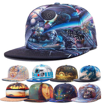 Alisister new arrival 2017 fashion snapback baseball caps women men hat abstract flowers galaxy cap Casual gorras hip hop cap