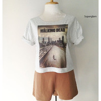 Andrew Lincoln Rick Grimes The Walking Dead TV Series Poster Women Top Wide Crop Fashion T shirt