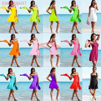Fashion 2016 Trending Fashion Multi-Color Halter Neck Women One Piece Dress Beach Holiday Casual _ 5599