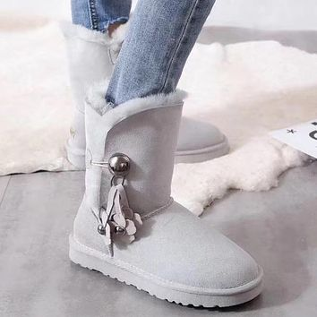 UGG Women Fashion Half Boots Wool Snow Boots Shoes