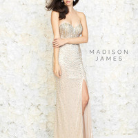 Madison James 15-129 Beaded Prom Dress Evening Gown
