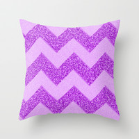 Chevron Fruity Throw Pillow by Alice Gosling