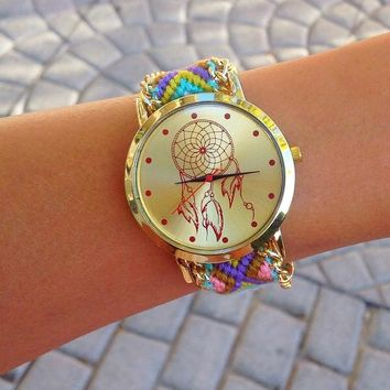 Dream Catcher Friendship Bracelet Watch