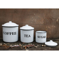 Creative Co-op Sugar, Tea, or Coffee Enamel Container from Elizabeth's Embellishments