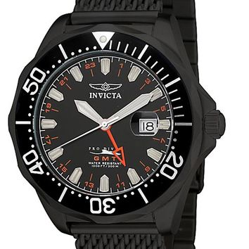 Invicta 6363 Men's Grand Pro Diver GMT Black Mesh Band Watch