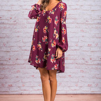 Bold Botanicals Dress, Purple