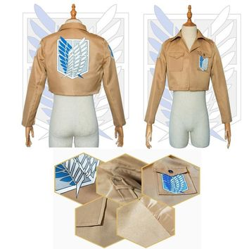 Cool Attack on Titan S-XXL  Jacket no  jacket Legion Cosplay Costume Eren Levi  Jacket Coat Any Size High Quality Eren AT_90_11