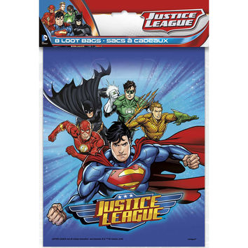 Justice League Party Loot Bags [8 per Pack]