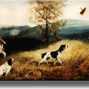 Hunting Dogs on a Mountain Picture on Acrylic , Wall Art Décor, Ready to Hang!