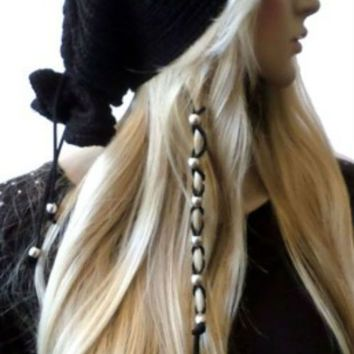 Suede Leather Hair Ties Wraps Hair Jewelry (Click For More Colors)