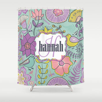 Pastel Nature  Personalized Shower Curtain