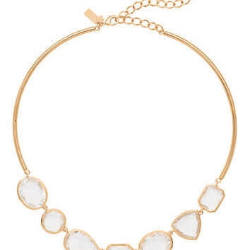 Kate Spade Vegas Jewels Collar Necklace Clear ONE