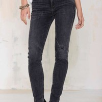 Citizens of Humanity Carlie High-Waisted Skinny Jean - Distressed