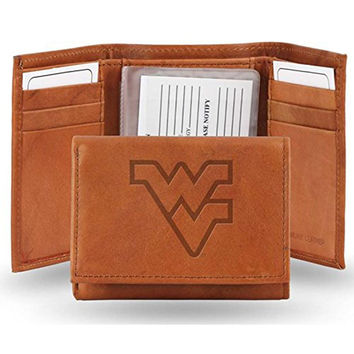 West Virginia Mountaineers NCAA Manmade Leather Tri-Fold