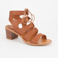 BAMBOO Lace Up Womens Heels | Sandals