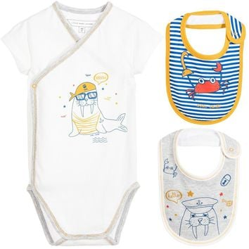Little Marc Jacobs Baby Boys Romper & Bibs Gift Set