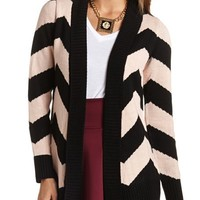 PRINTED THICK KNIT CARDIGAN