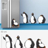 Kitchen wall art - Pinguins wall decal - Wall Decals , Home WallArt Decals