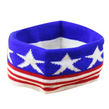 2017 Newest Yoga Headband American Flag  Wide Stretch Sports Hair Band Elastic Yoga Accessories #E0