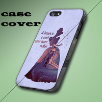 Cinderella Quote Disney Design iPhone 4/4S, 5/5S/5C Case, Samsung Galaxy S3/S4 Case